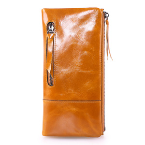 510a2f67bf Yafeige Women s Soft Genuine Leather Bifold Organizer Wallet Zipper Pocket
